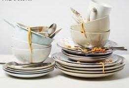 توصیف گفتگوی ظرف ها درباره ی آداب غذا خوردن مهمان ها صفحه 24 نگارش ششم_ensha_org